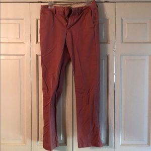 J Crew urban slim fitting salmon colored khakis